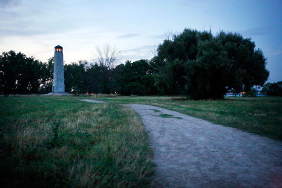 The lighthouse on Belle Isle